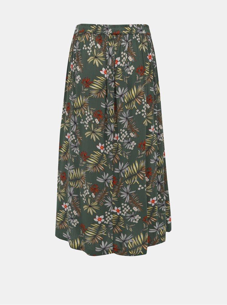 Zelená květovaná maxi sukně Zizzi Cigga