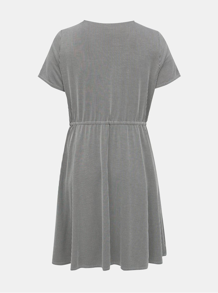 Čierno-biele pruhované šaty Zizzi Laska