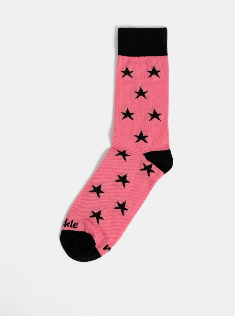 Růžové dámské vzorované ponožky Fusakle Hviezda