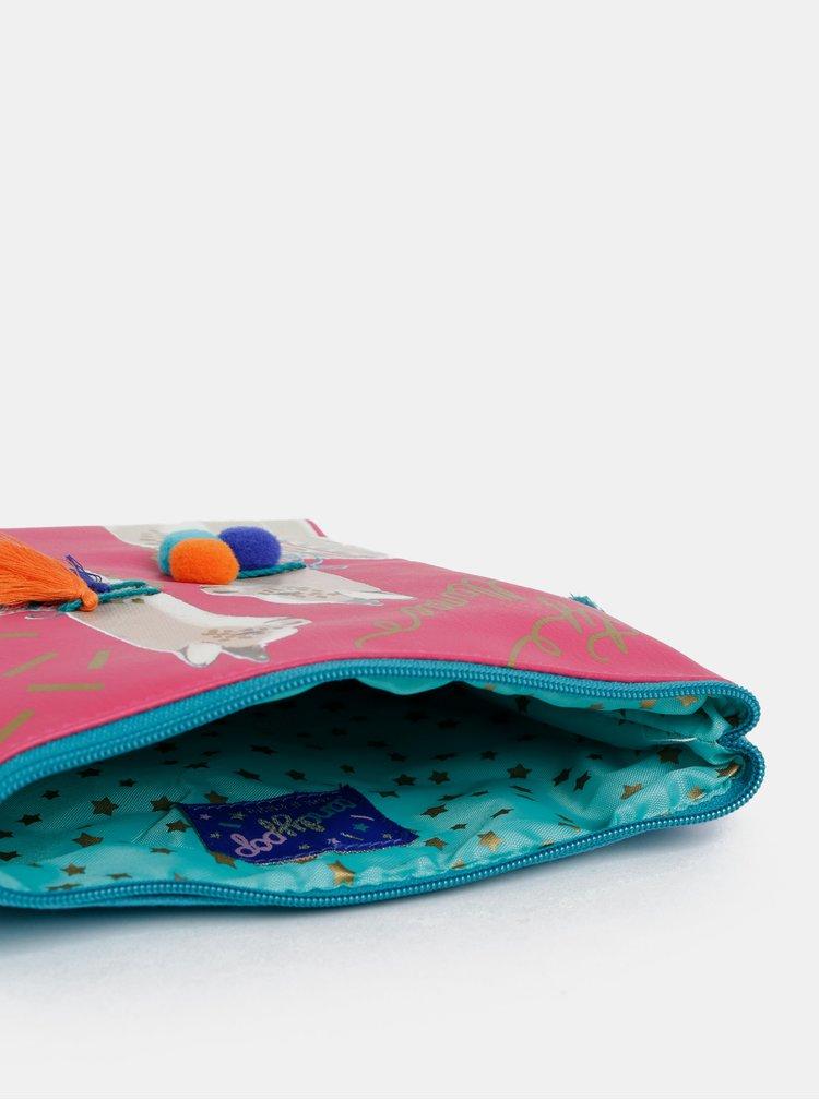 Tyrkysovo-růžová kosmetická taštička s motivem Disaster Candy Pop