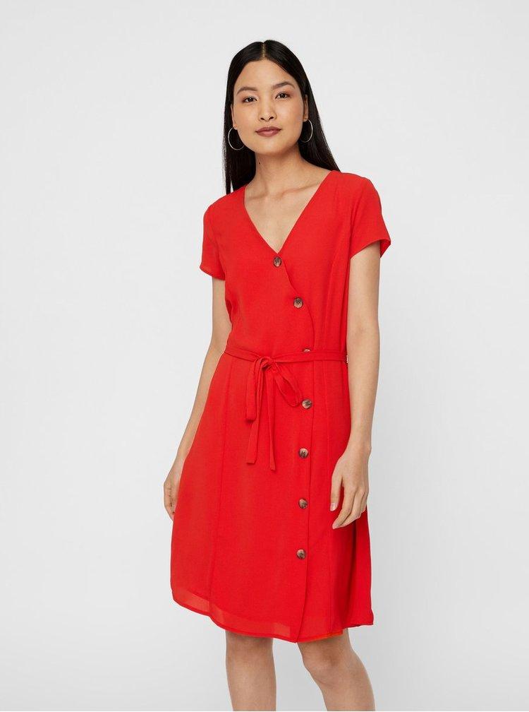 Červené šaty VERO MODA Annika