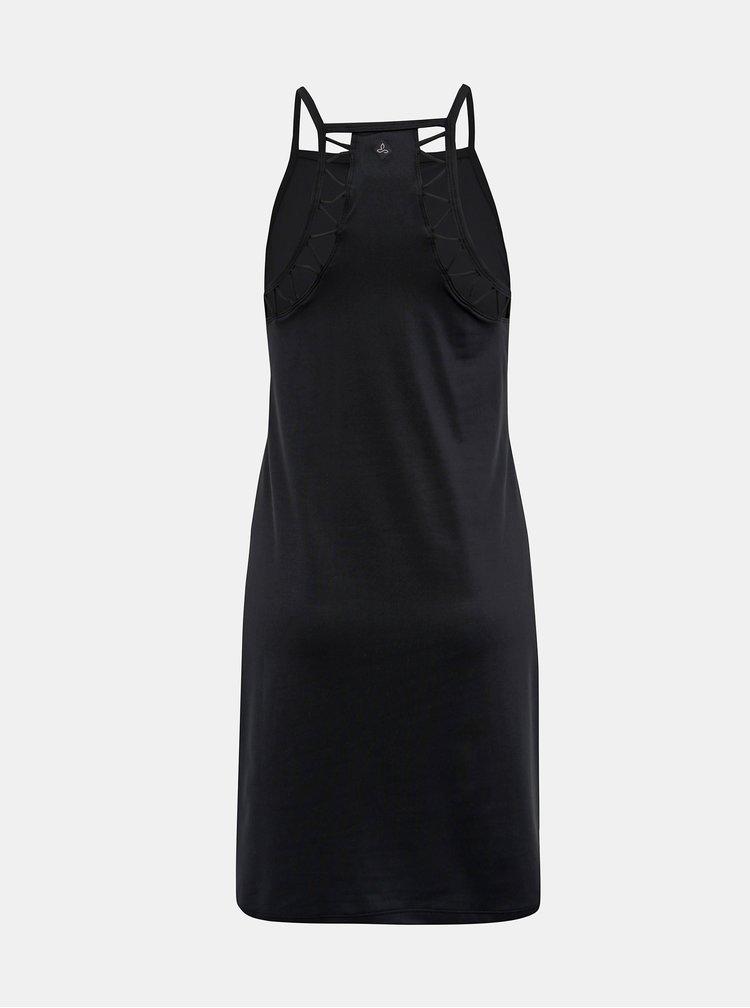 Černé šaty s průstřihy na zádech prAna Ardor
