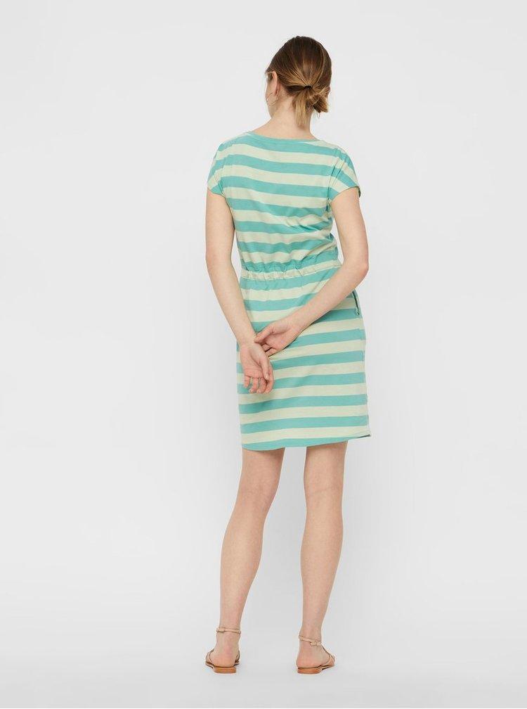 Zelené pruhované šaty s kapsami VERO MODA April