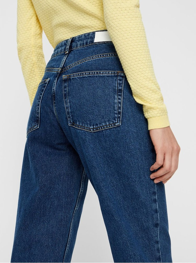 Modré straight fit džíny VERO MODA AWARE Sara