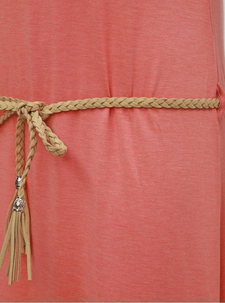 Ružové vzorované maxišaty Ragwear Tag