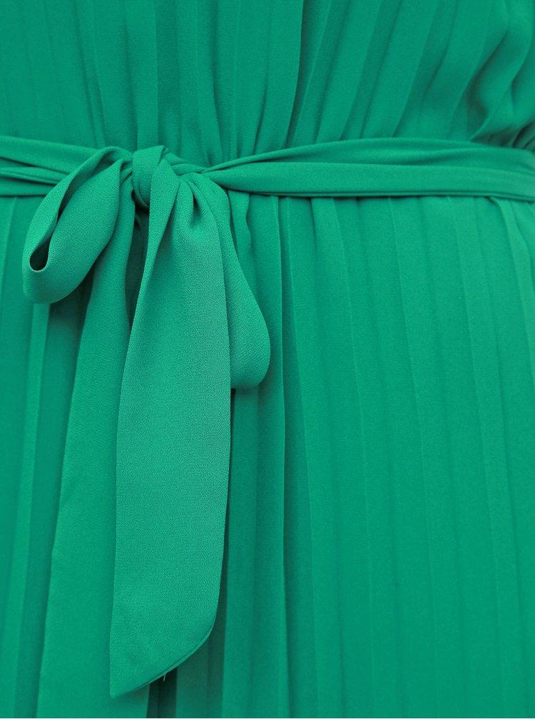 Zelené plisované maxišaty na ramínka ONLY Analina
