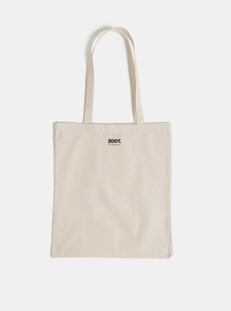 Béžová plátěná taška ZOOT Original Namasté bitches