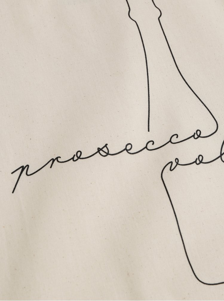 Béžová plátená taška ZOOT Original Prosecco