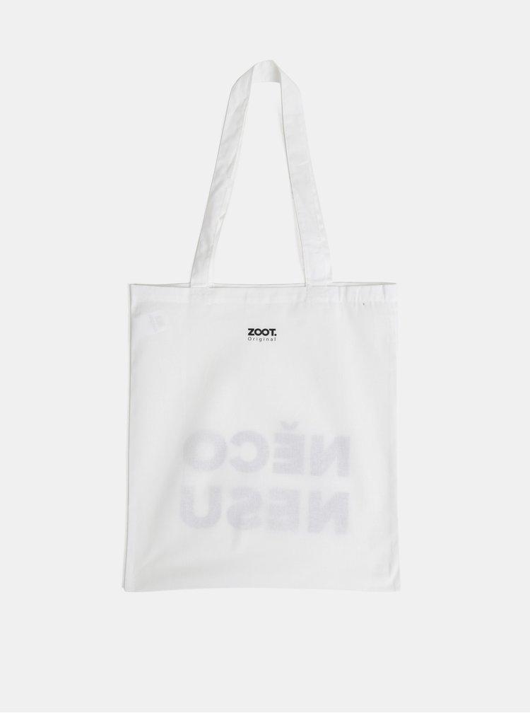 Bílá plátěná taška ZOOT Original Něco nesu