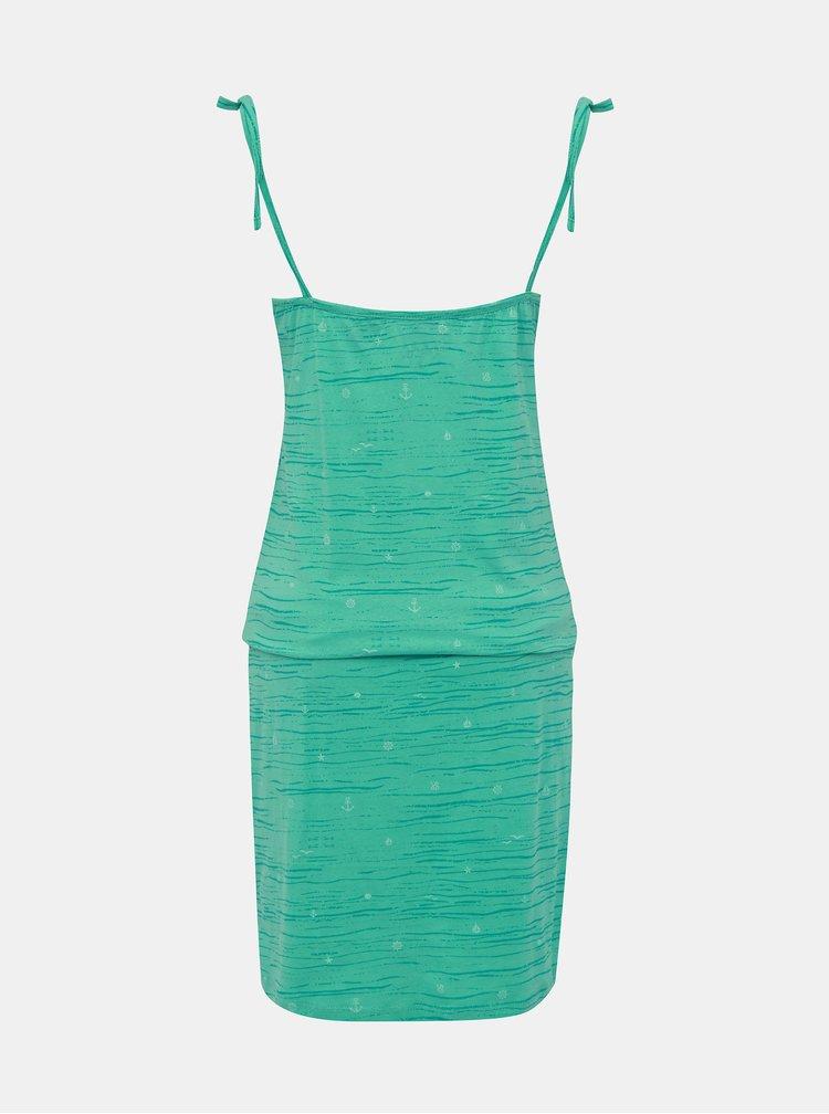 Zelené vzorované šaty na ramienka LOAP Bama