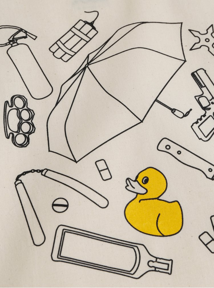 Béžová plátěná taška ZOOT Original Zakázané věci