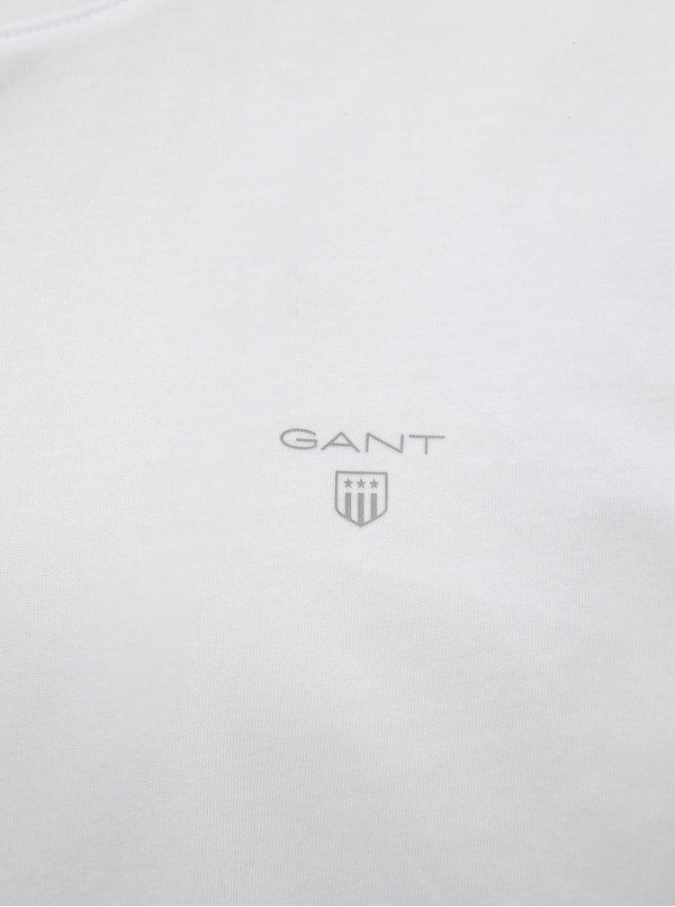 Sada dvou bílých basic triček pod košili GANT