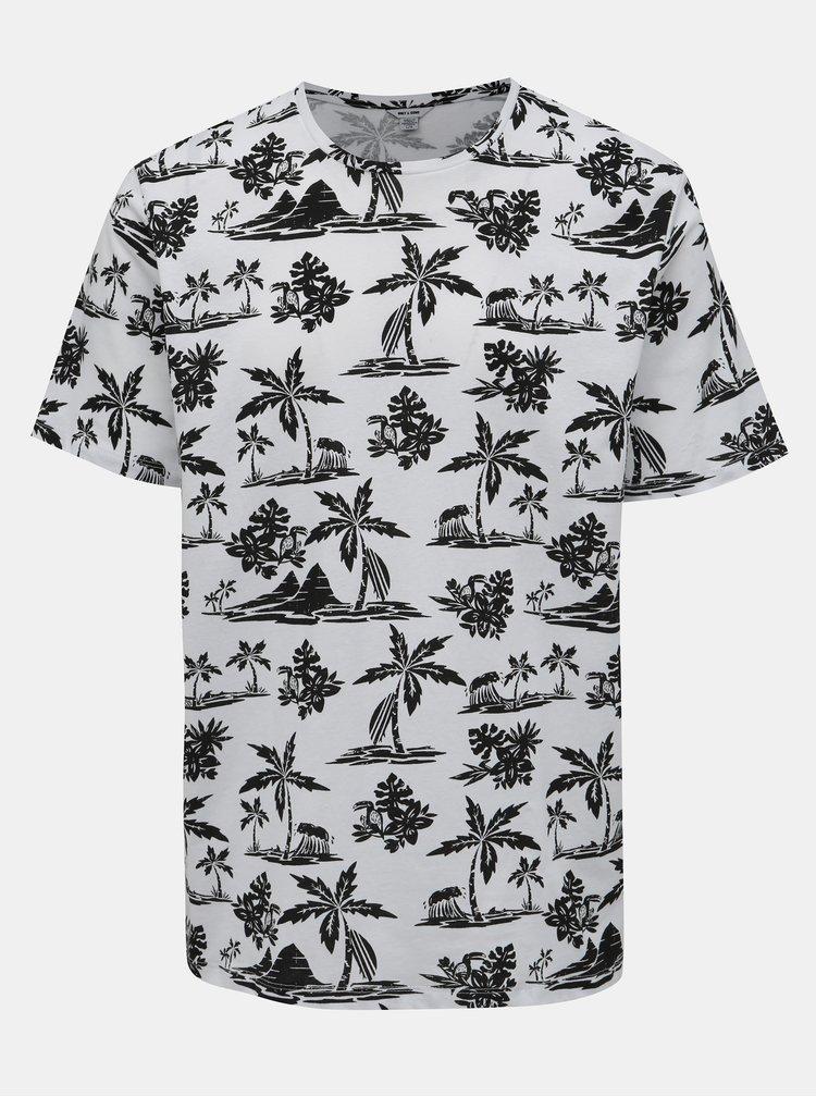Černo-bílé vzorované tričko ONLY & SONS Gobber