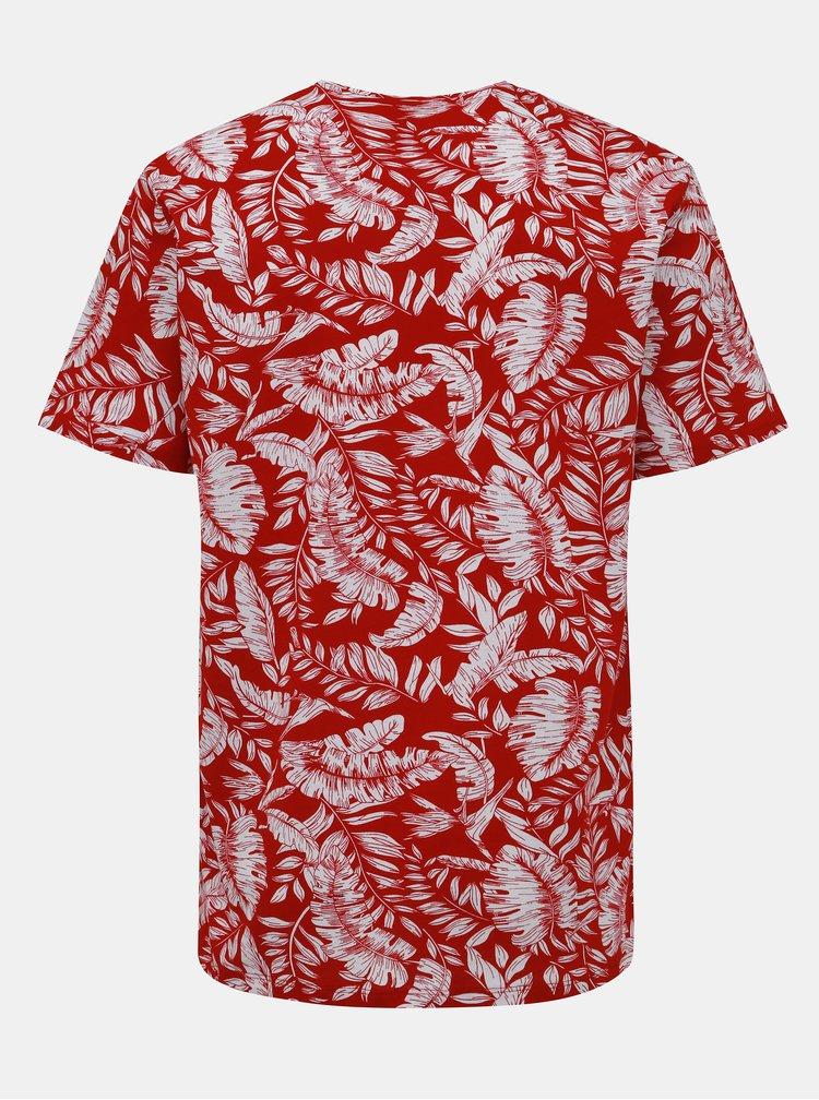 Bílo-červené vzorované tričko ONLY & SONS Gobber