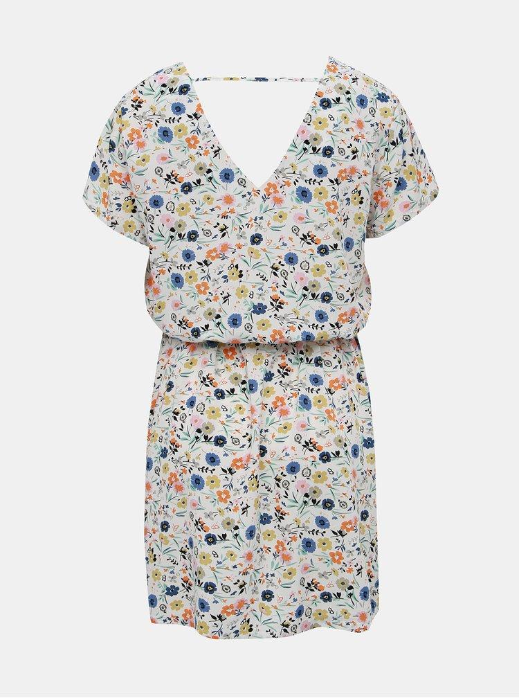 Biele kvetované šaty Only Nova Deep
