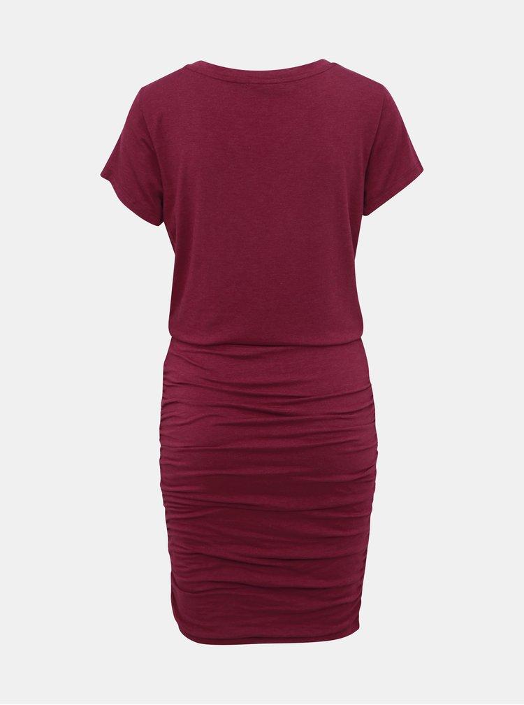 Vínové púzdrové šaty prAna Foundation