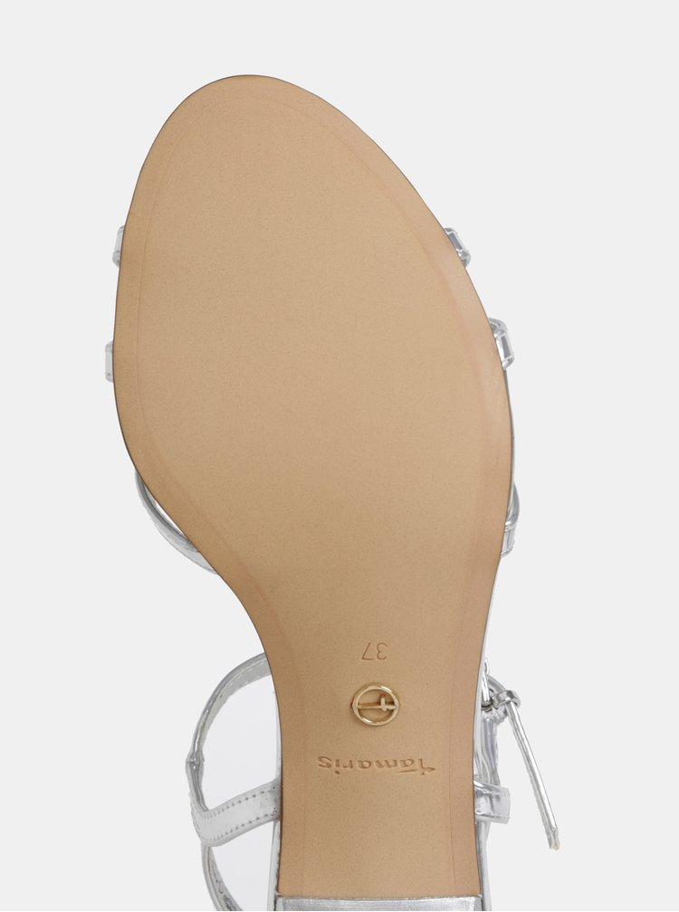 Sandály ve stříbrné barvě Tamaris