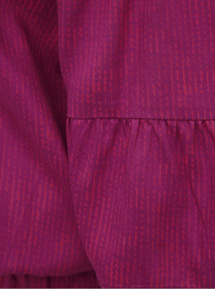 Tmavoružové šaty s odhalenými ramenami prAna Lenora