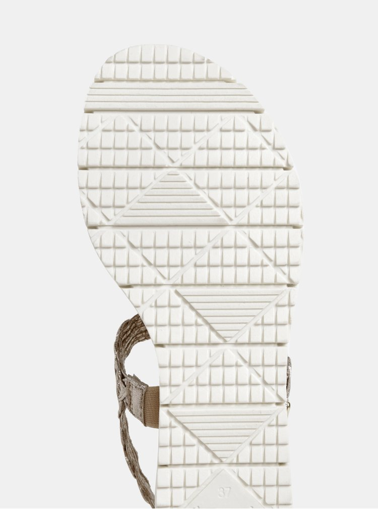 Sandále ve zlatej farbe na platforme Tamaris