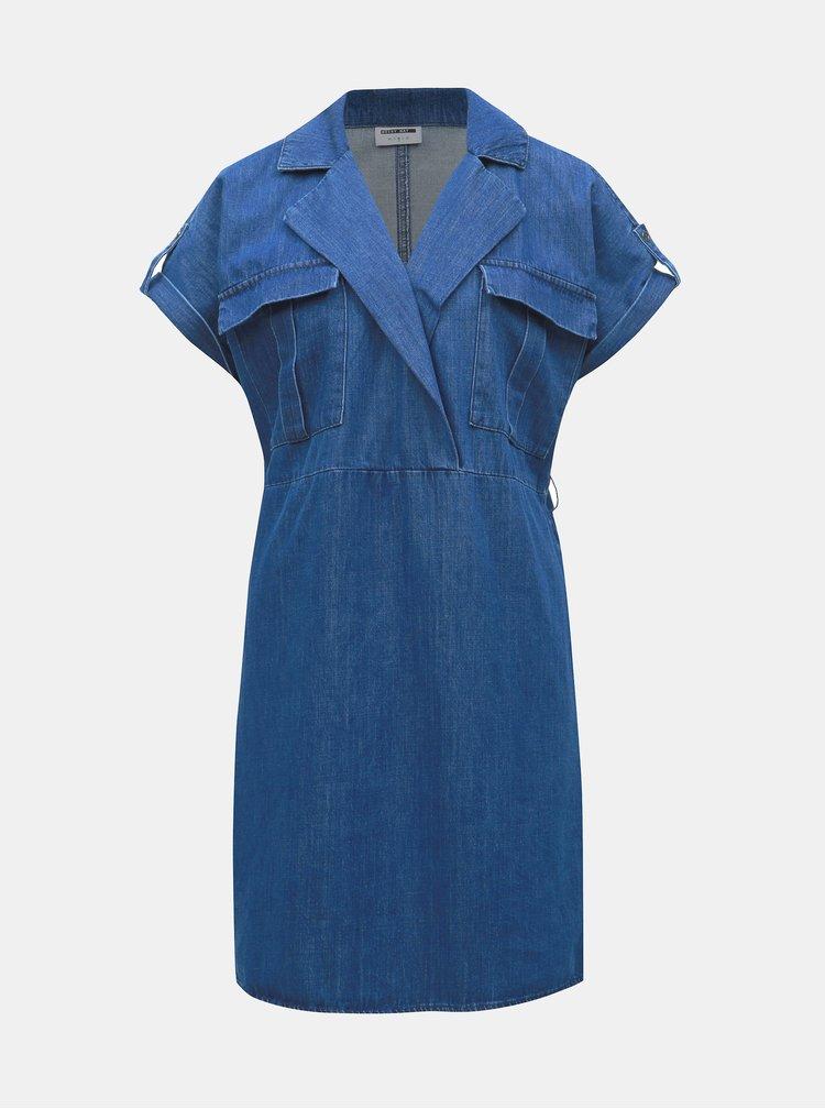 Modré džínové košilové šaty Noisy May Vera