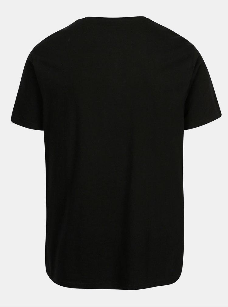 Tricou negru cu nasturi  Burton Menswear London