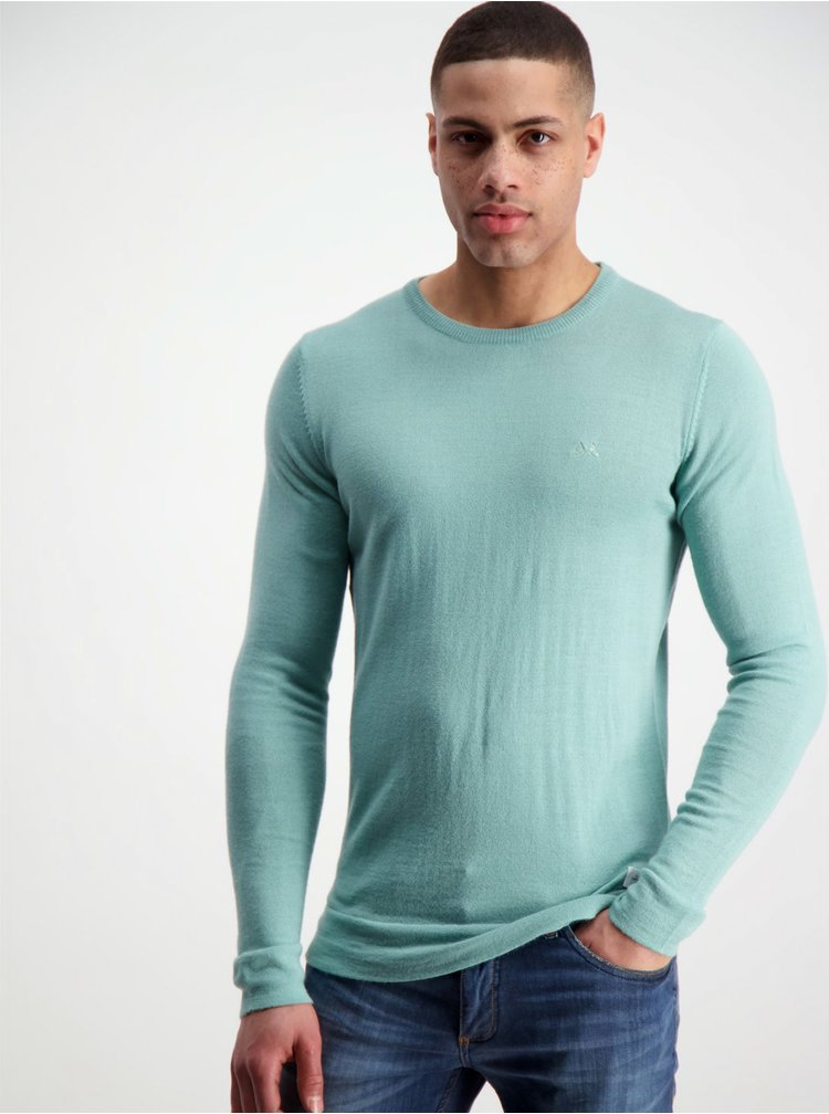 Světle zelený basic svetr z Merino vlny Lindbergh