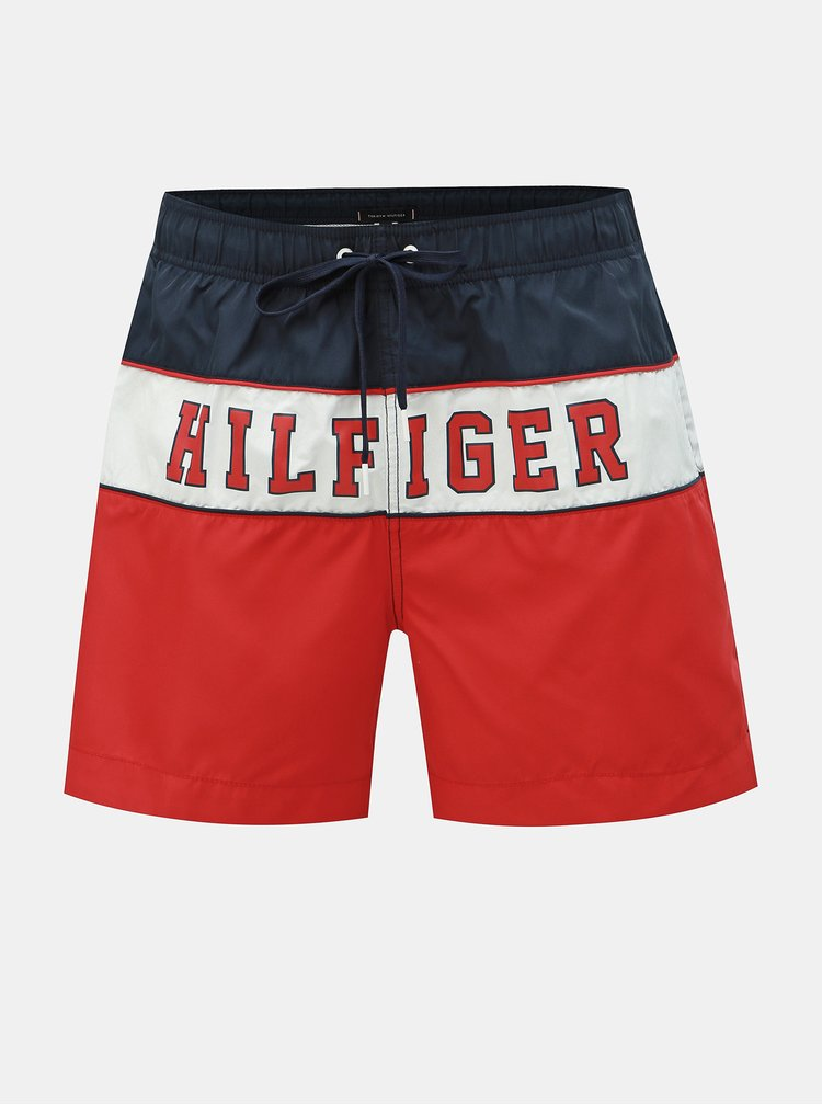Modro–červené pánske plavky Tommy Hilfiger