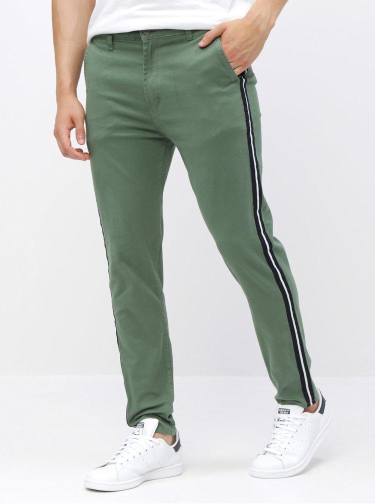 Pantaloni verzi chino Shine Original
