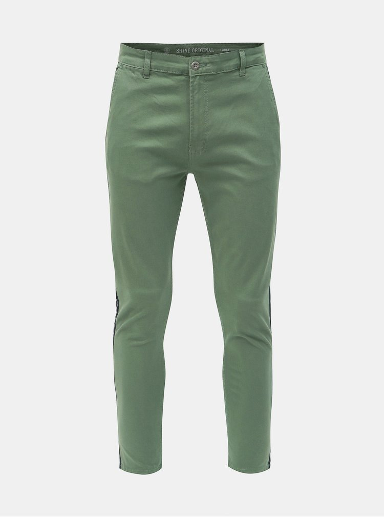 Zelené chino nohavice Shine Original