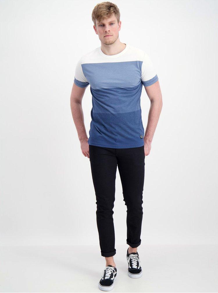 Modré pruhované tričko Shine Original