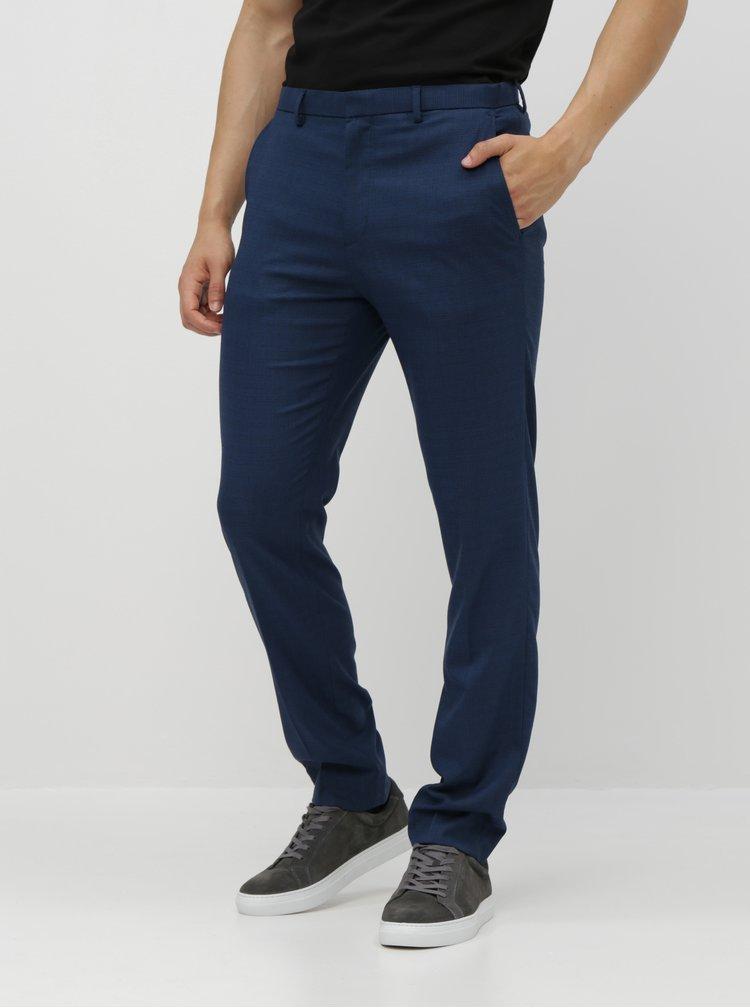 Pantaloni albastri in carouri skinny fit Burton Menswear London