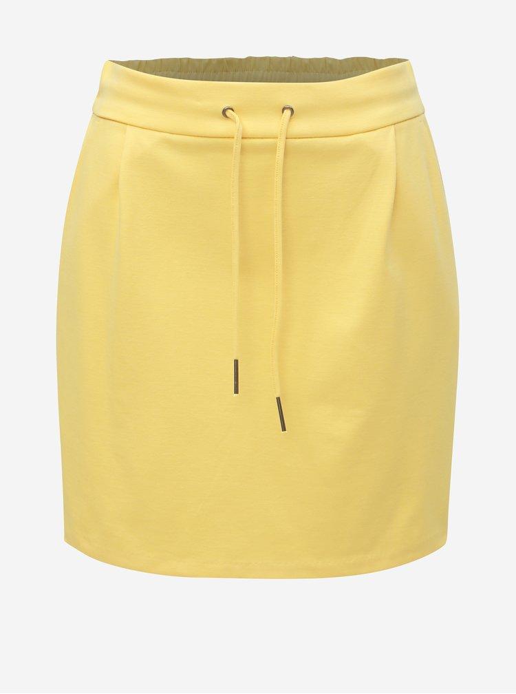 Žlutá basic minisukně VERO MODA Eva