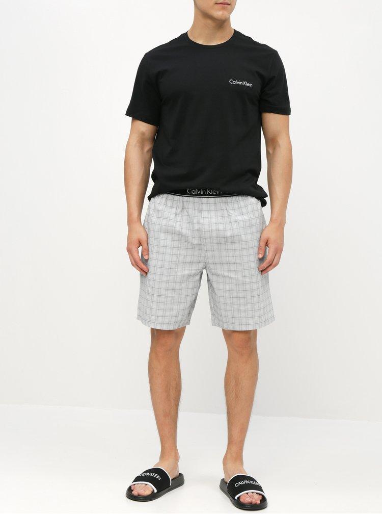 Sivo–čierne pánske dvojdielne pyžamo Calvin Klein Underwear
