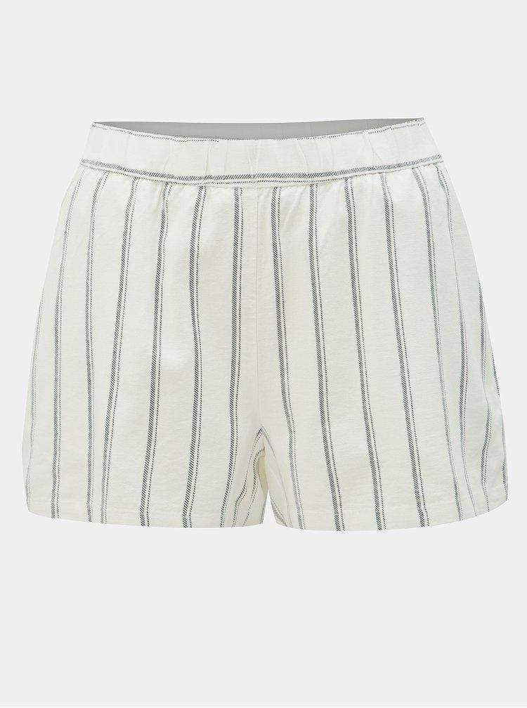 Pantaloni scurti albi in dungi din in VERO MODA Anna
