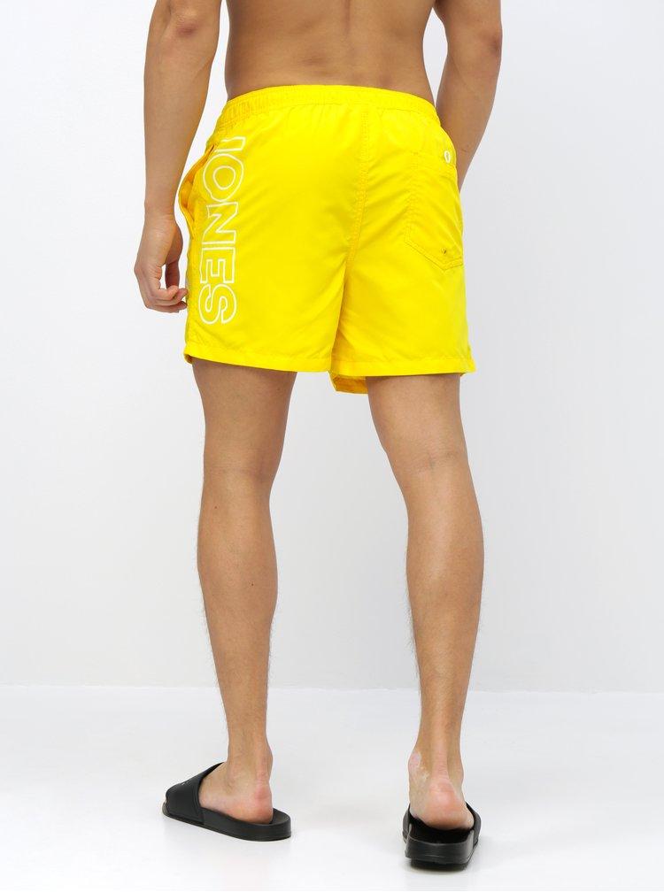 Žlté plavky s potlačou Jack & Jones Cali
