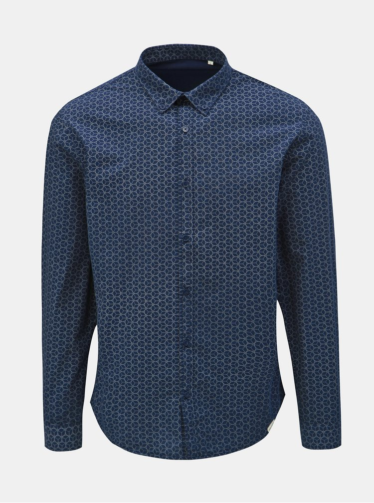 Camasa albastru inchis cu model Shine Original