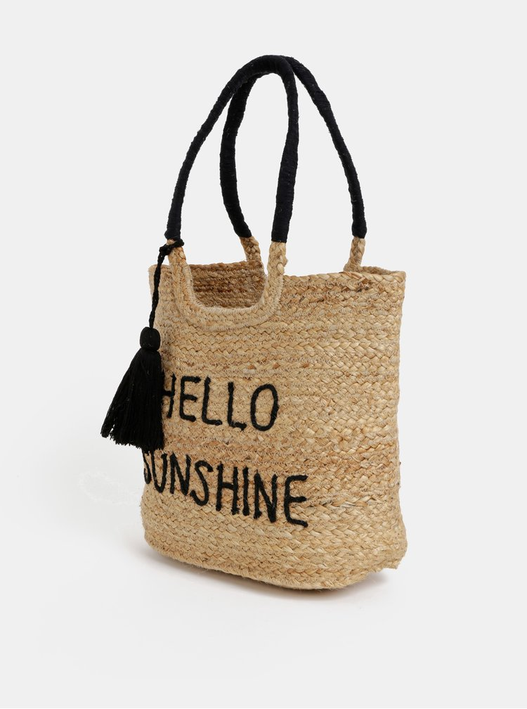 Béžová plážová jůtová taška Dorothy Perkins