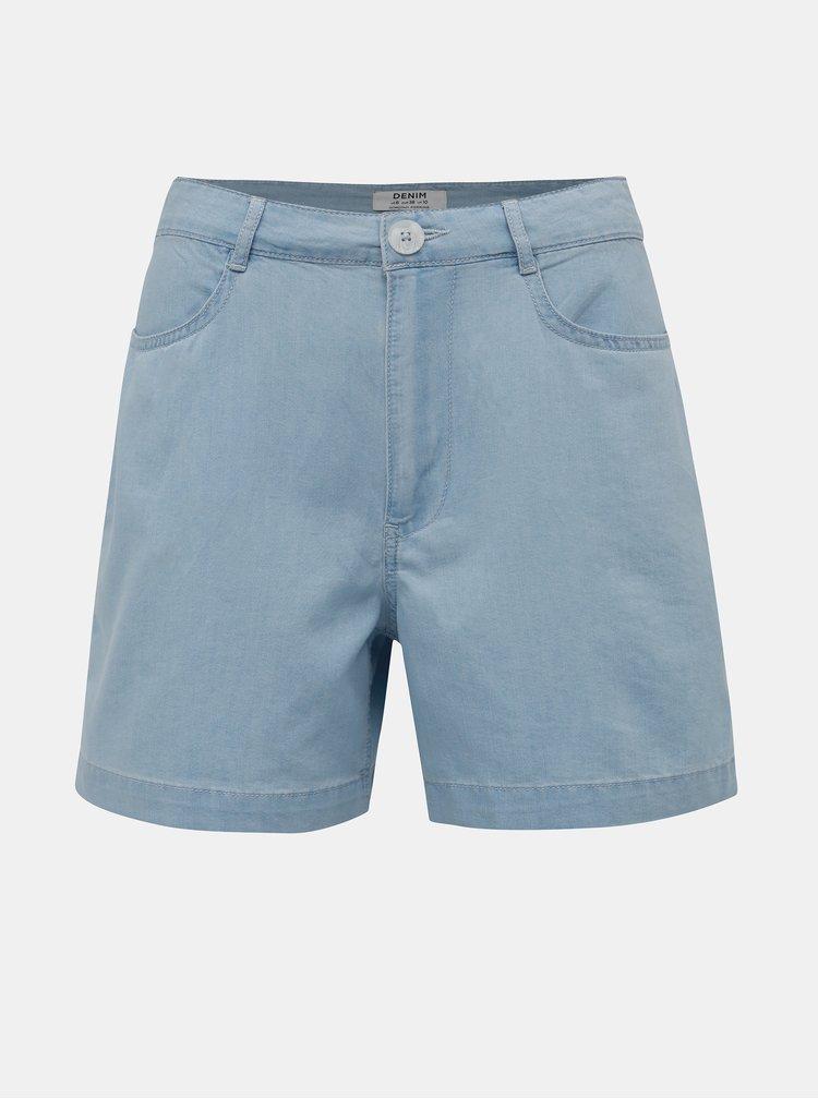 Světle modré džínové kraťasy Dorothy Perkins Denim