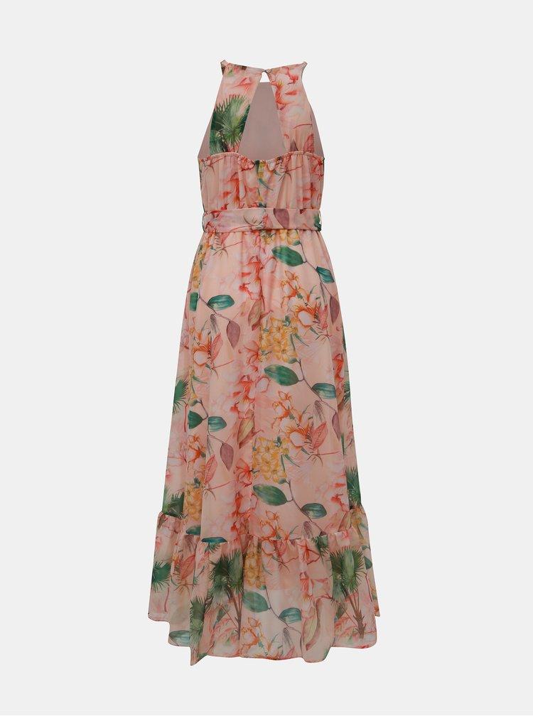Meruňkové květované maxišaty Dorothy Perkins