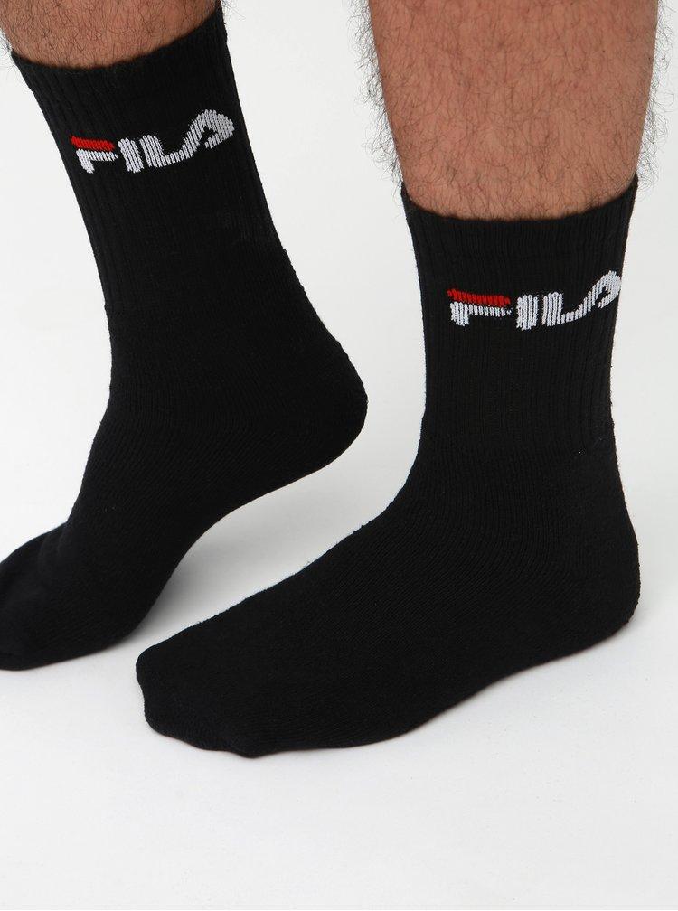Sada tří páru ponožek v bílé, černé a šedé barvě FILA