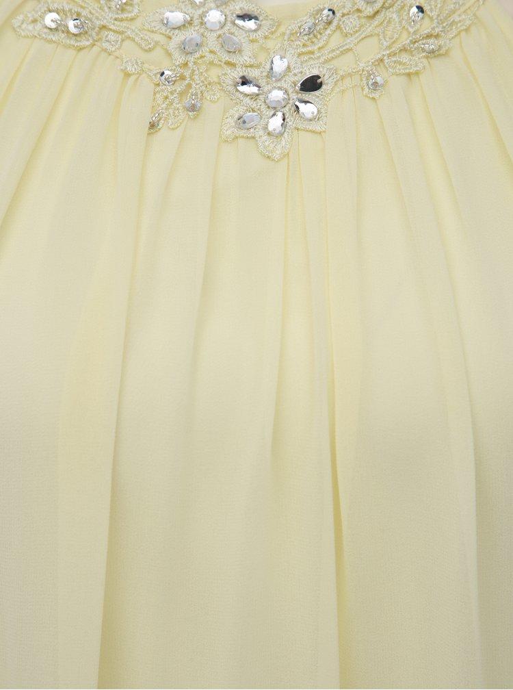 Svetložlté šaty s ozdobným lemom Dorothy Perkins