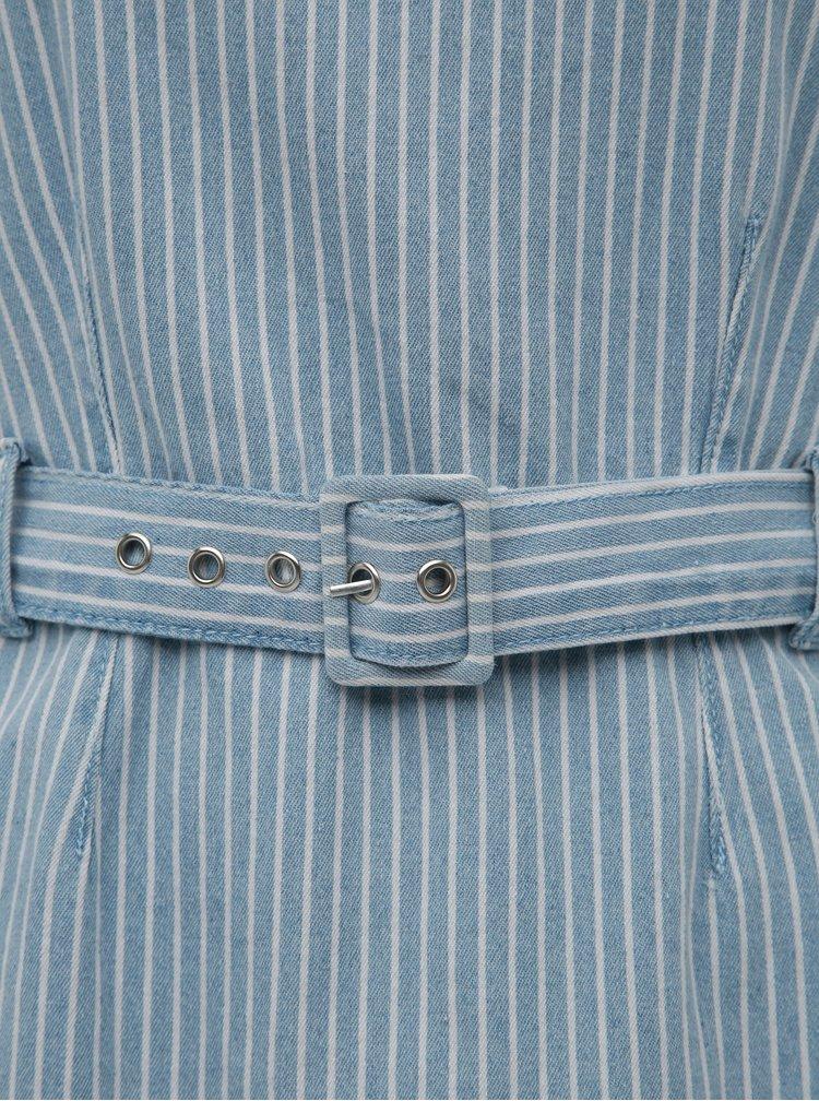 Modré pruhované džínové šaty Dorothy Perkins