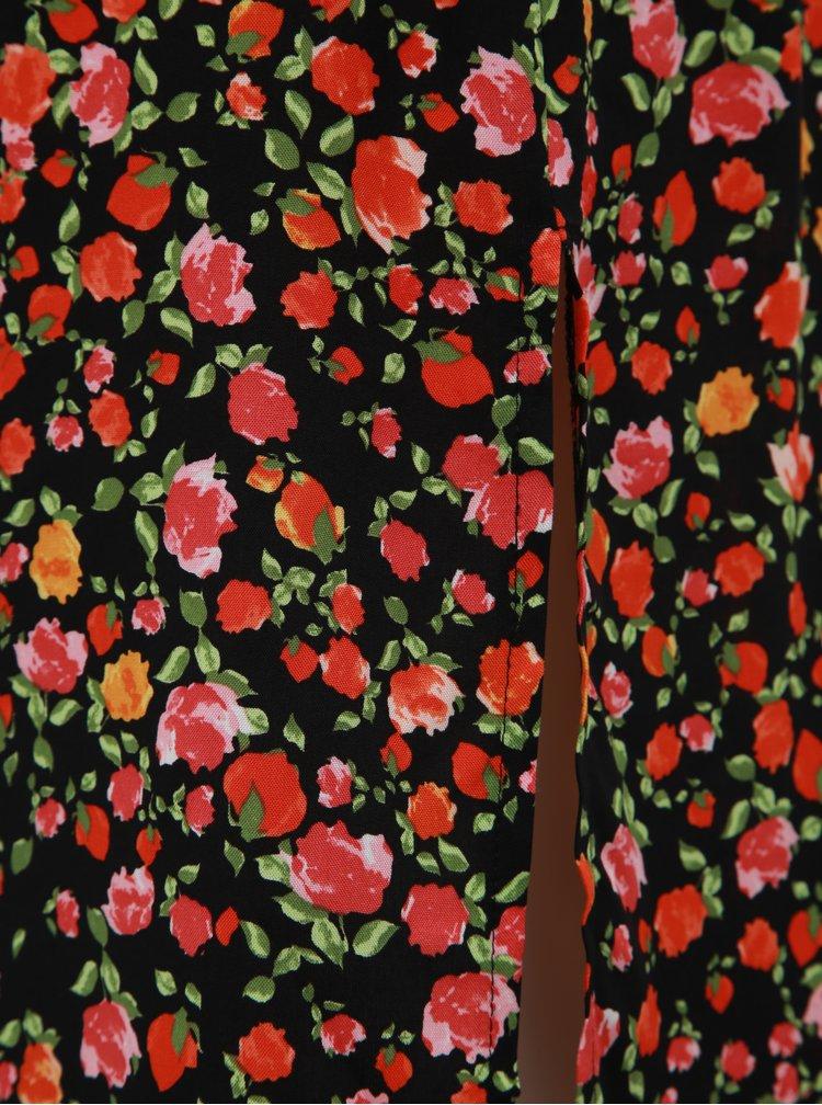 Červeno-černá květovaná sukně Dorothy Perkins