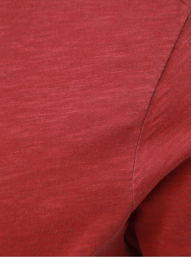 Červené basic tričko Selected Homme Ben