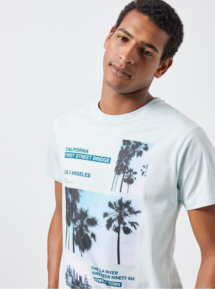 Mentolové tričko s potlačou Burton Menswear London
