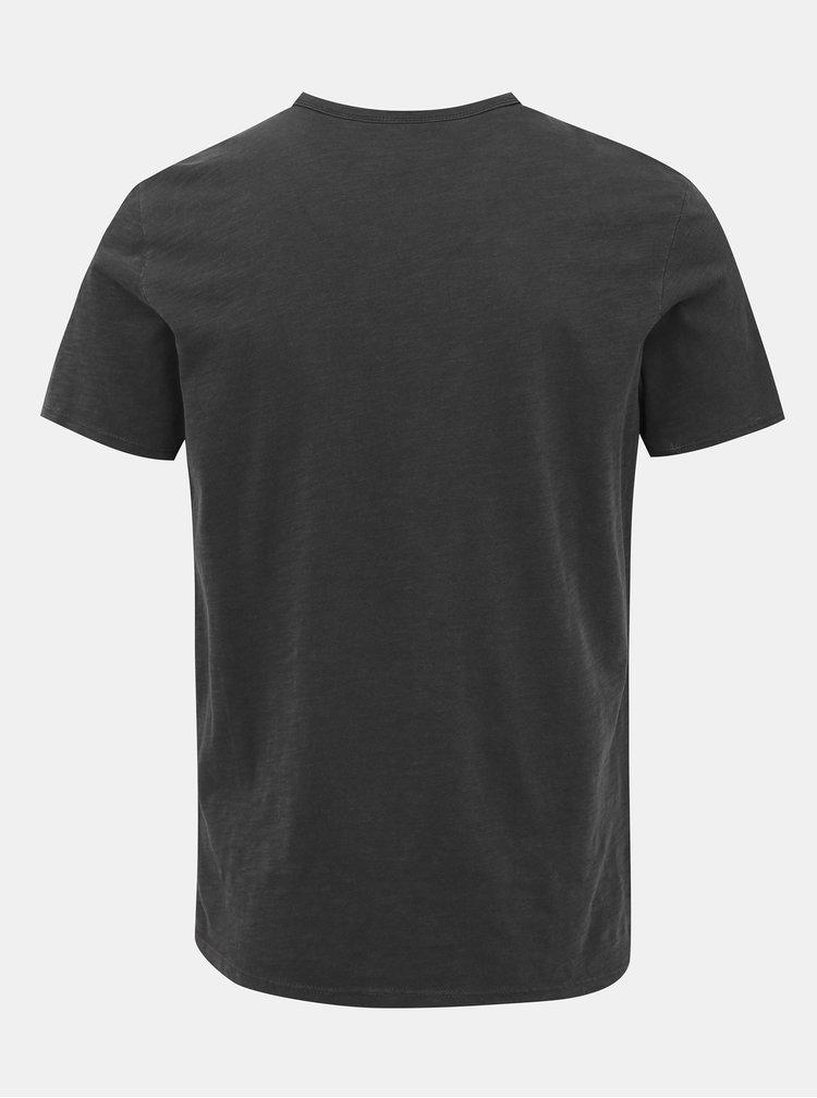 Tmavě šedé basic tričko Selected Homme Ben