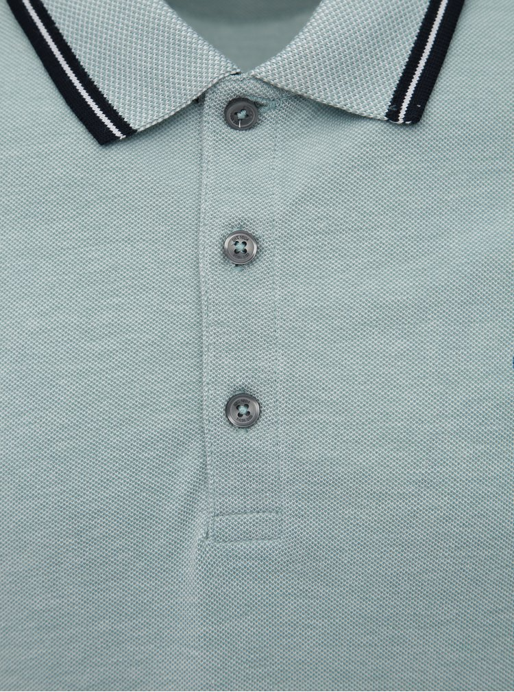 Světle modré polo tričko Burton Menswear London