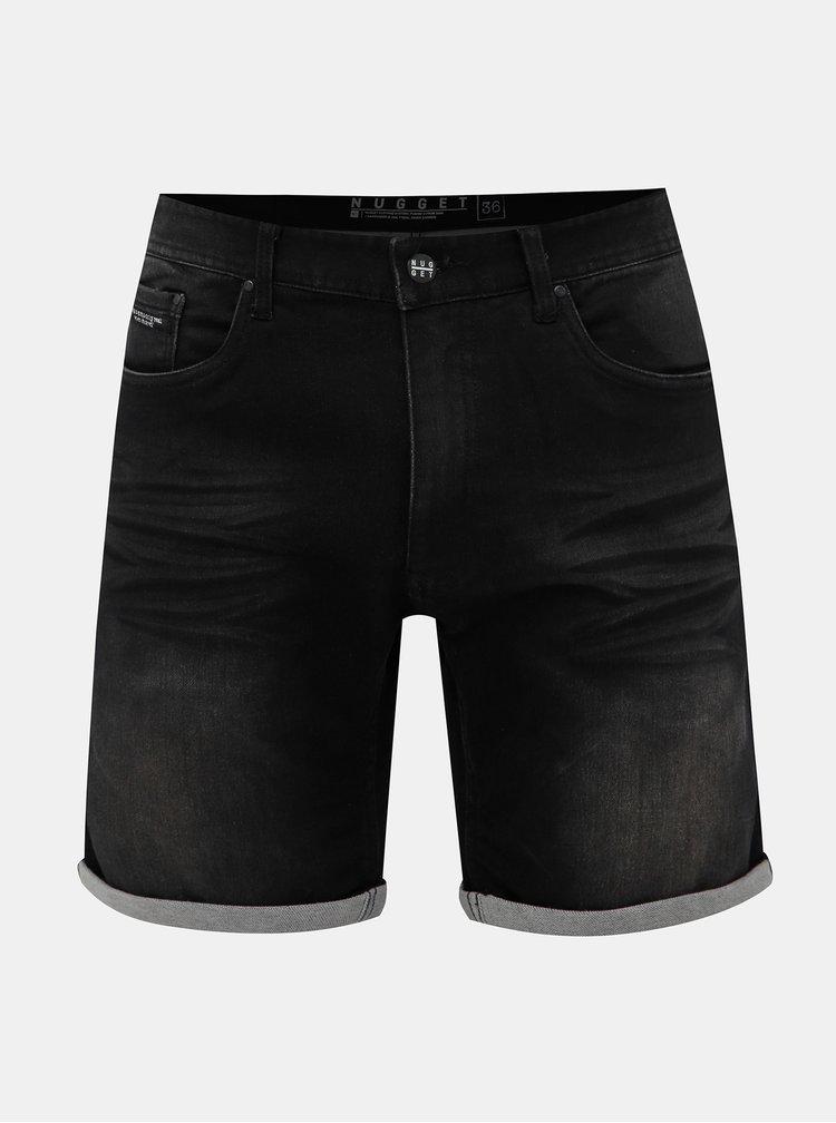 Černé pánské džínové kraťasy NUGGET Indy