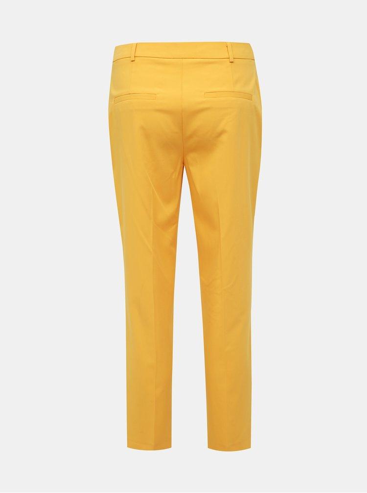 Žlté skrátené nohavice Dorothy Perkins