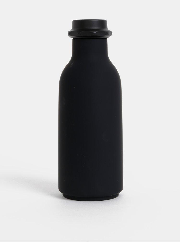 Černá láhev na pití Design Letters To Go 500 ml